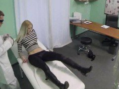 Hot blonde patient getting...